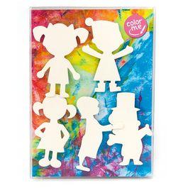 People colour-me fridge magnets, set of 5