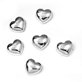 Sweetheart aimants métalliques en forme de cœur, lot de 6