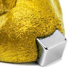 Plastilina magnética inteligente plastilina ferromagnética, dorada, no incluye imán