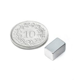 Q-10-06-06-Z Bloque magnético 10 x 6 x 6 mm, sujeta aprox. 2.1 kg, neodimio, N45, galvanizado