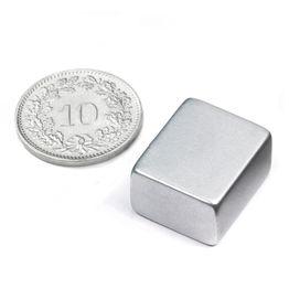 Q-18-15-10-Z Block magnet 18 x 15 x 10 mm, neodymium, N45, zinc-plated