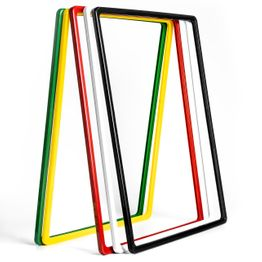 Marco para carteles A3 de plástico, con esquinas redondeadas, funda en U incluida