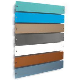 Barra metallica 'Element Smal' 35 cm supporto per magneti, da avvitare, incl. 6 potenti magneti, in diversi colori