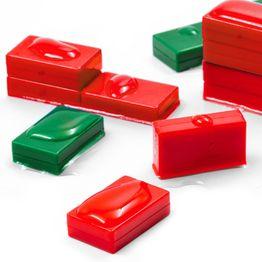 M-BLOCK-01 Quadermagnete mit Kunststoffhülle, hält ca. 5.5 kg, wasserdicht, 5er-Set, in verschiedenen Farben