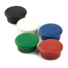 Office magnets 'Boston Xtra Mini' round noticeboard magnets neodymium, Ø 20 mm, set of 10, in different colours