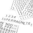 Pour étiqueter des étagères métalliques, 120 caractères par feuille A4, kit de 2 pièces, blanc