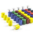 Neodym-Magnete mit Kunststoffkappe, Ø14mm, in verschiedenen Farben