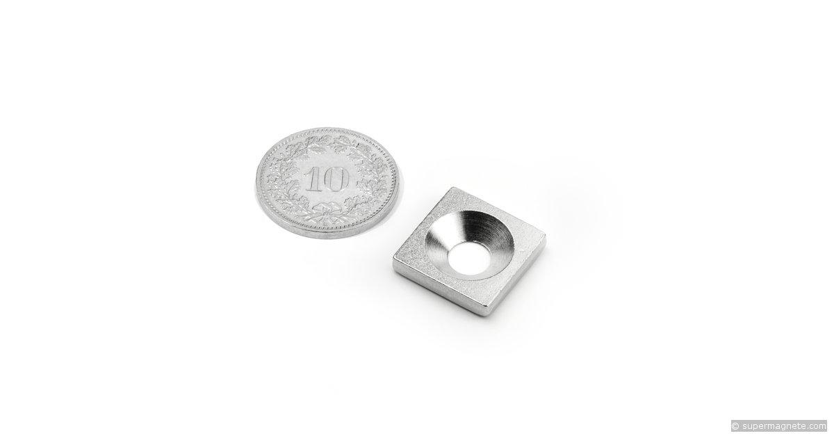 quader aus metall gegenst ck f r magnete 15x15 mm. Black Bedroom Furniture Sets. Home Design Ideas