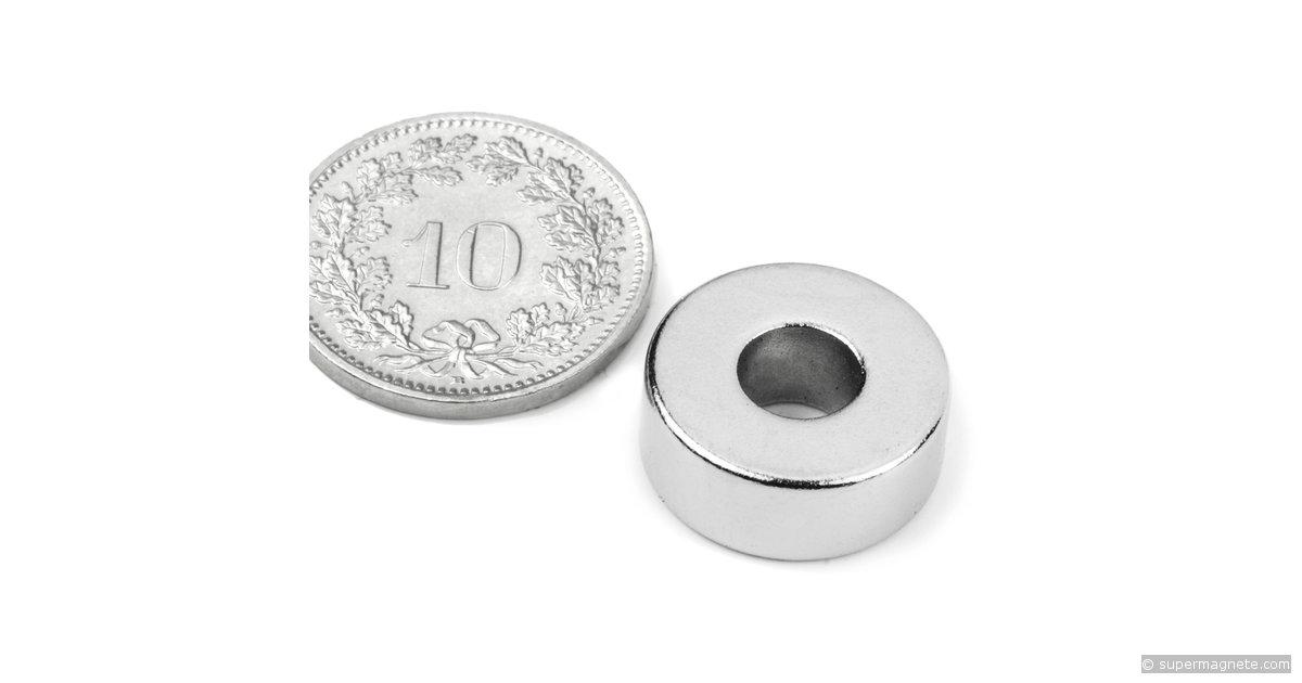 ringmagnete magnetringe magnete mit loch 15 x 6 x 6 mm neodym magnete supermagnete. Black Bedroom Furniture Sets. Home Design Ideas