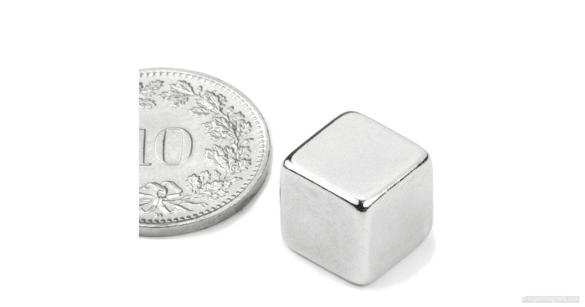 10 x Magnetwürfel hält 3kg Nickel Würfelmagnet  7 x 7 x 7mm Neodym N42