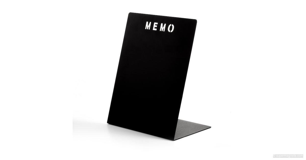 memoboard memo aus metall schwarz supermagnete. Black Bedroom Furniture Sets. Home Design Ideas