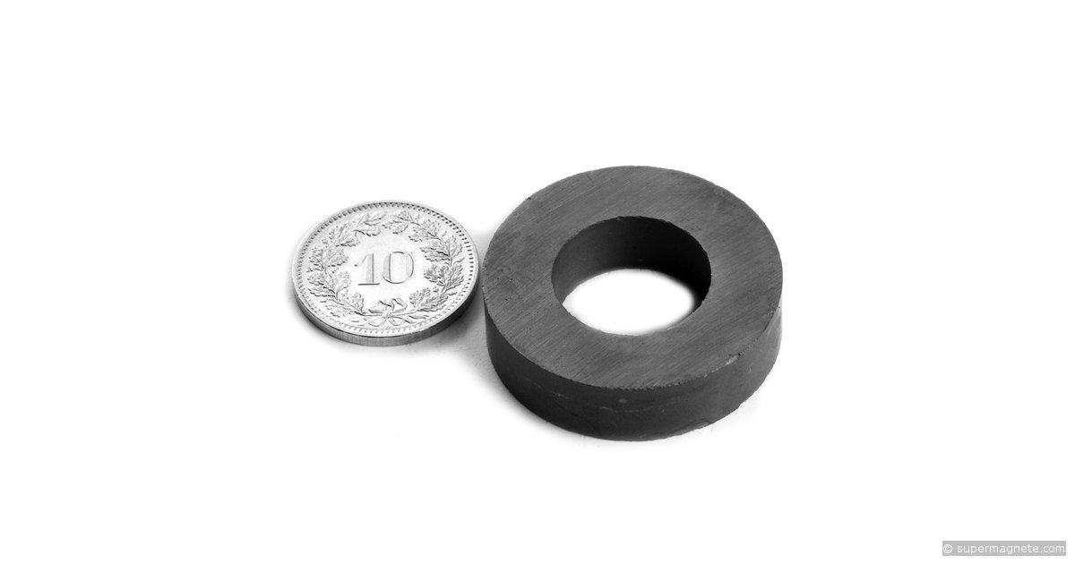 ringmagnete magnetringe magnete mit loch 30 x 16 x 8 mm fe r 30 16 08 supermagnete. Black Bedroom Furniture Sets. Home Design Ideas