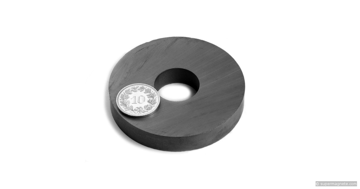 ringmagnete magnetringe magnete mit loch 60 x 20 x 10 mm fe r 60 20 10 supermagnete. Black Bedroom Furniture Sets. Home Design Ideas
