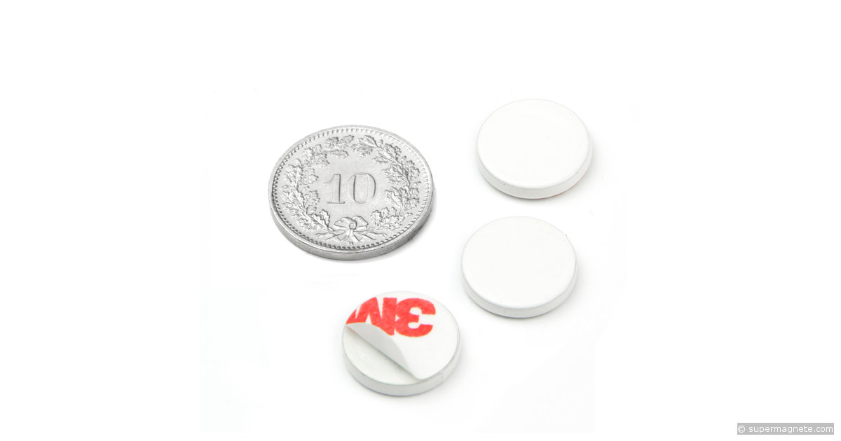 metallscheibe selbstklebend weiss gegenst ck f r magnete. Black Bedroom Furniture Sets. Home Design Ideas