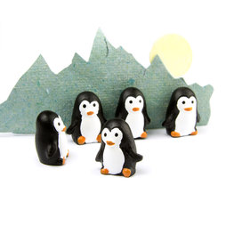 LIV-66, Penguins, strong fridge magnets, set of 6