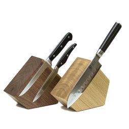 M-KNIFEB-002, Bloc à couteaux magnétique Pentagon, en bois, pour couteaux jusqu'à 900 g