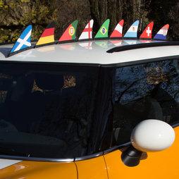M-42, Fanflosse Länderflagge, Magnet-Flagge fürs Auto