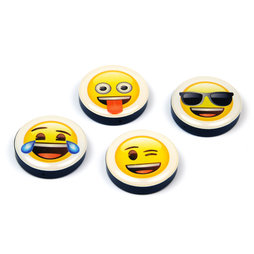 LIV-82/mix, Emoji, fridge magnets with symbols, set of 4, 'smilies'