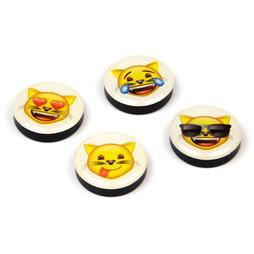 LIV-82/cats, Emoji, fridge magnets with symbols, set of 4, 'cats'