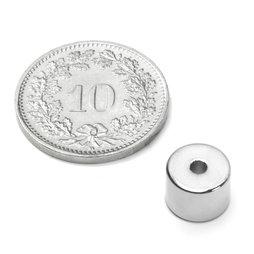 R-08-02-06-N, Ringmagnet Ø 8/2 mm, Höhe 6 mm, Neodym, N50, vernickelt
