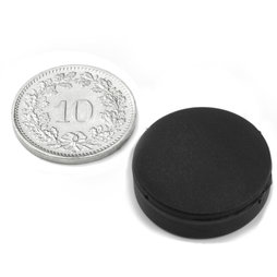S-20-05-R, disc magnet rubberised Ø 22 mm, height 6.4 mm, neodymium, N42