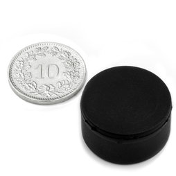 S-20-10-R, Disc magnet rubber coated Ø 22 mm, height 11.4 mm, neodymium, N42