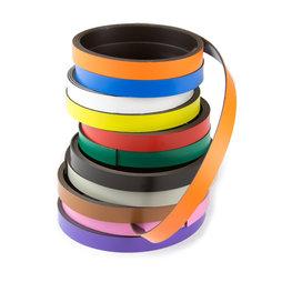 MT-10, Gekleurd magneetband 10 mm, om zelf te beschrijven en op maat te knippen, rollen à 1 m