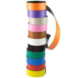MT-30, Gekleurd magneetband 30 mm, om zelf te beschrijven en op maat te knippen, rollen à 1 m