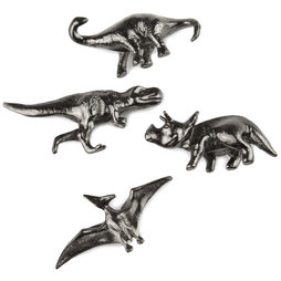 LIV-85, Dinosaurs, decorative fridge magnets, set of 4