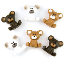 LIV-86, Bears, decorative fridge magnets, set of 6