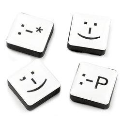 LIV-88, Emoticons, Dekomagnete quadratisch, 4er-Set