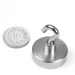 FTN-25, Hook magnet Ø 25 mm, thread M4, strength approx. 18 kg