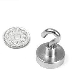 FTN-20, Magneethaak, Ø 20 mm, Schroef-draad M4, houdkracht ca. 13 kg