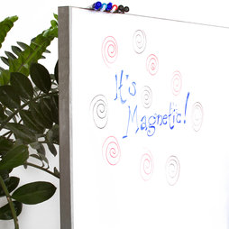 MS-100500MWBM, Whiteboard sheet magnetic, magnetic backside, 1 x 5 m roll, not a magnetic base for magnets!