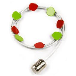 SALE-091, Fotoseil Äpfel 1${dec}5 m, mit Schlaufe und Stahlgewicht, inkl. 8 Magneten in Apfelform, Fotoseil weiss