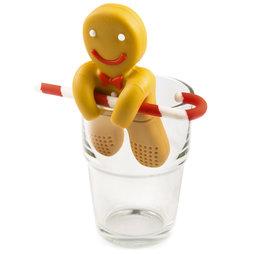 M-72, Infusor de té «Hombre de jengibre», infusor de té de silicona, ¡no es magnético!