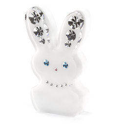 LIV-93, Diamond Rabbit, fridge magnet Rabbit, with Swarovski crystals