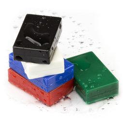 M-BLOCK-01, Parallelepipedi magnetici con involucro di plastica, 5 pezzi per set, div. colori