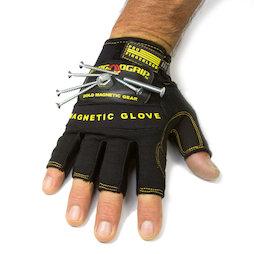WS-FMG-L, Handschuh magnetisch L, für Nägel, Schrauben, Bits etc., Grösse L