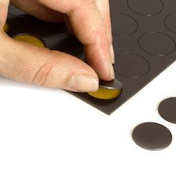 MS-TAKKI-05, Takkis rond 20 mm, zelfklevende magneetplaatjes, 24 plaatjes per vel