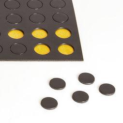 MS-TAKKI-04, Takkis ronds 10 mm, plaquettes magnétiques autocollantes, 60 plaquettes par feuille