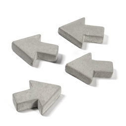 LIV-97/concrete1, Concrete magnets, arrows, set of 4
