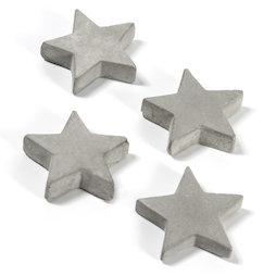 LIV-97/concrete2, Concrete magnets, stars, set of 4