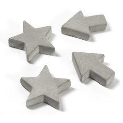 LIV-97, Beton-Magnete, in drei verschiedenen Formen, 4er-Set