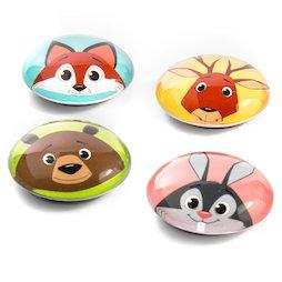 LIV-105, Funimals, bottoni magnetici con allegre facce di animali, set da 4