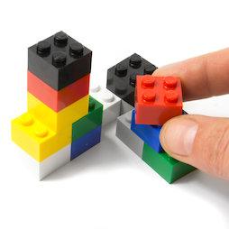 LIV-111, Mattoncini colorati, con magneti incorporati, colori assortiti, set da 14