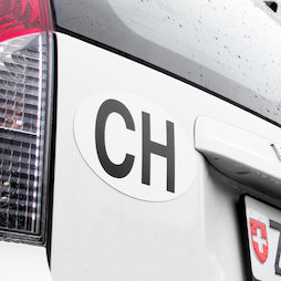 M-PLATE-CH, CH-Schild, für Motorfahrzeuge & Anhänger, magnetisch