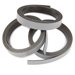 MT-10/silver, Bande magnétique couleur 10 mm, pour y écrire et pour découper, rouleaux d'1 m, coloris argent