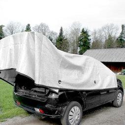 M-ALU-0304, Rete ombreggiante Alunet 80% S, protezione dal sole per l'auto e il giardino, 3 x 4 m