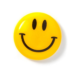 LIV-124, Smiley 'Boy', plastificato, giallo